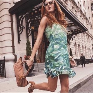 CAbi Tropical Castaway Palm Frond Dress Style 5235